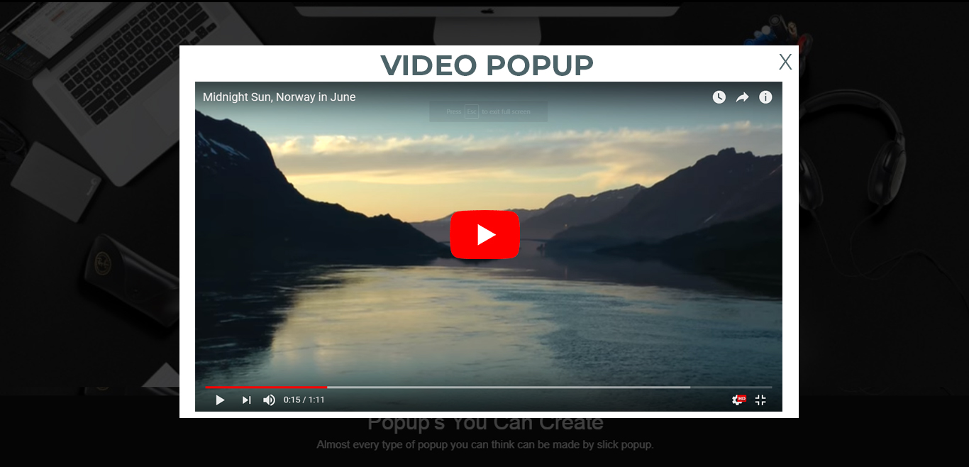 Video Popup Demo