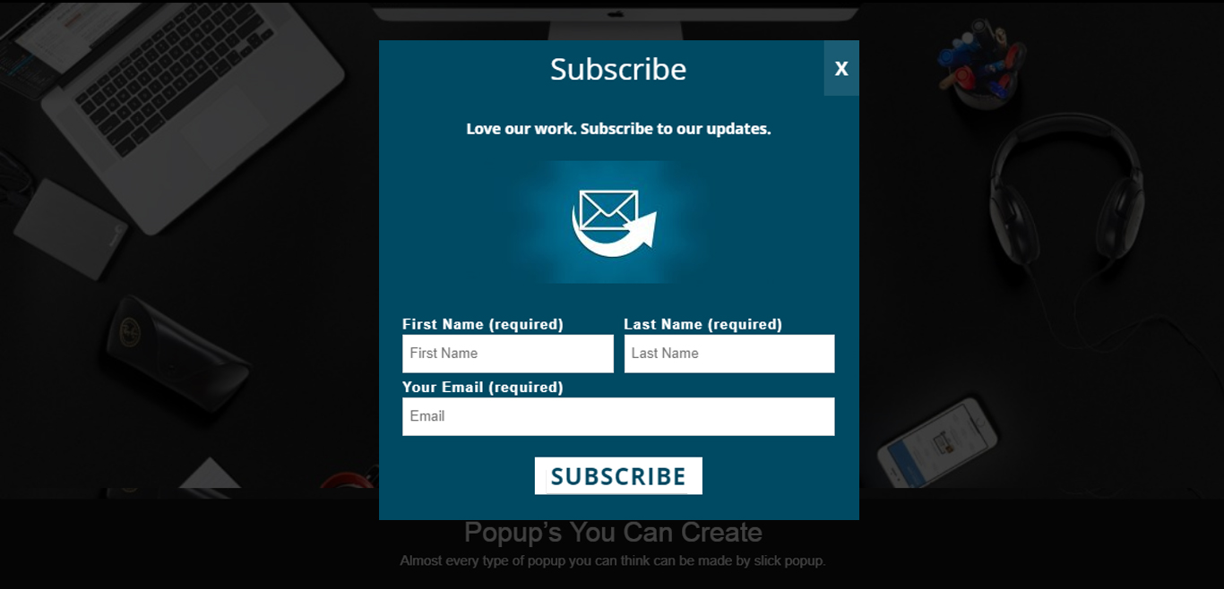 Subscribe Popup Demo
