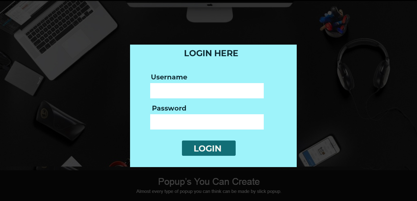 Login Popup Demo