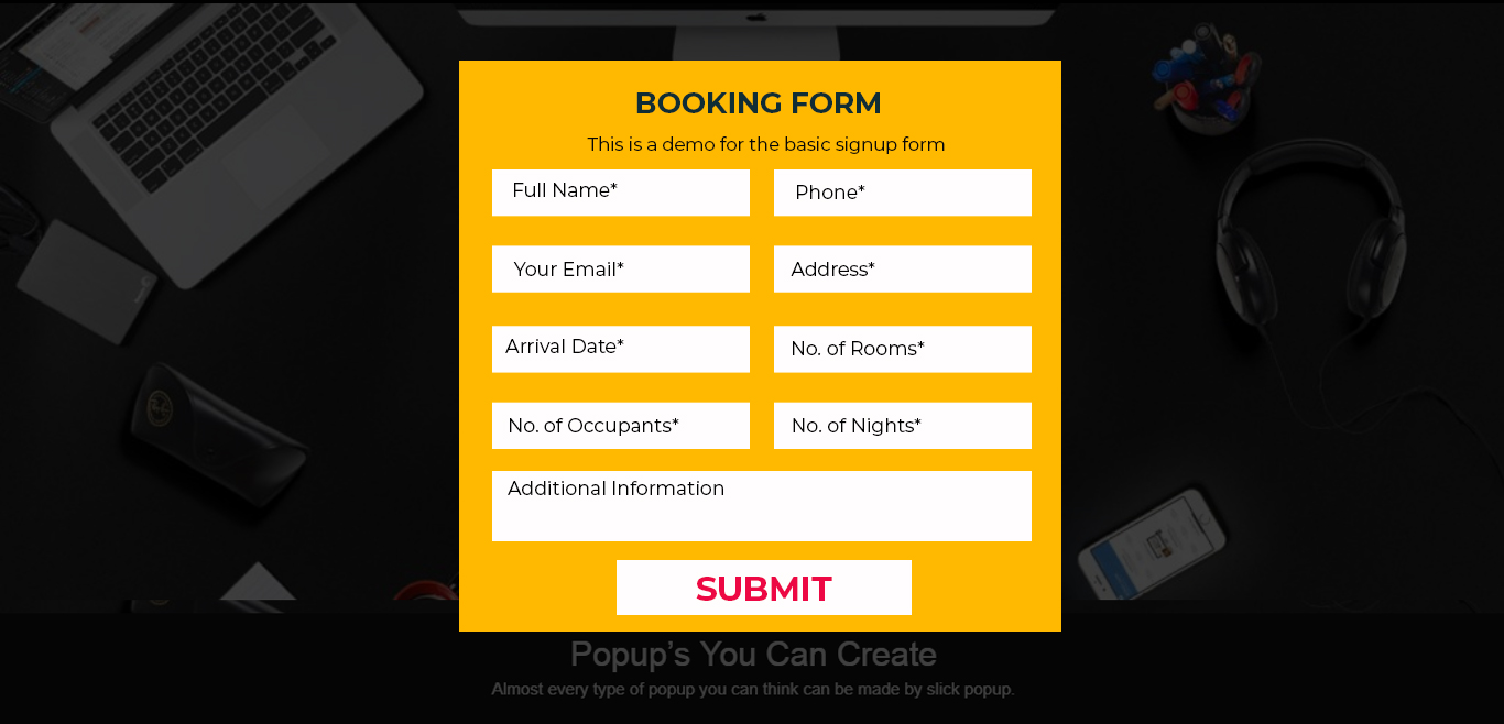 Booking Popup Demo